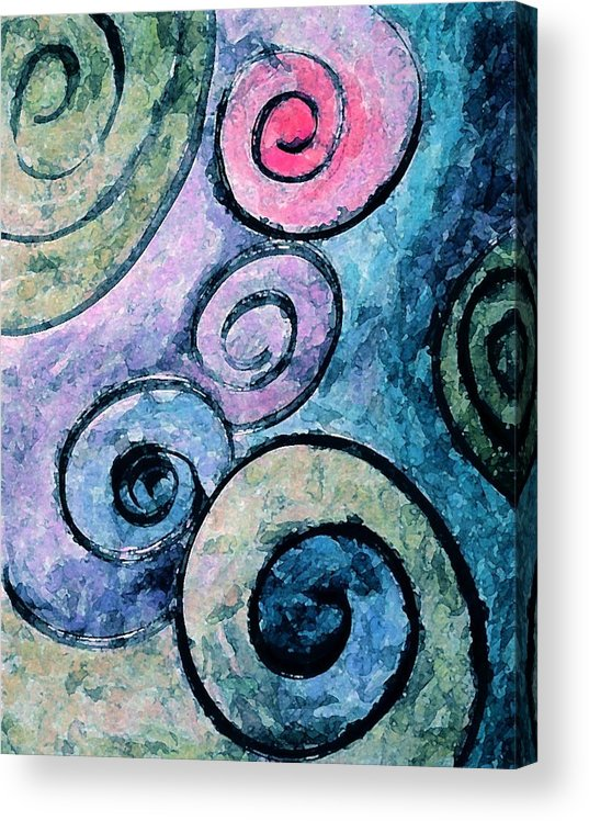 Abstract Acrylic Print featuring the painting Perfect by Margie Byrne