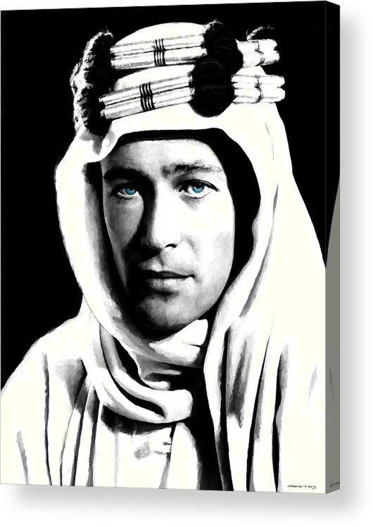 Peter O'toole Acrylic Print featuring the digital art Peter O'Toole Portrait by Gabriel T Toro