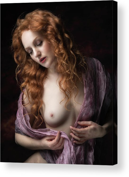 Ginger Acrylic Print featuring the photograph Pink Scarf by Jan Slotboom