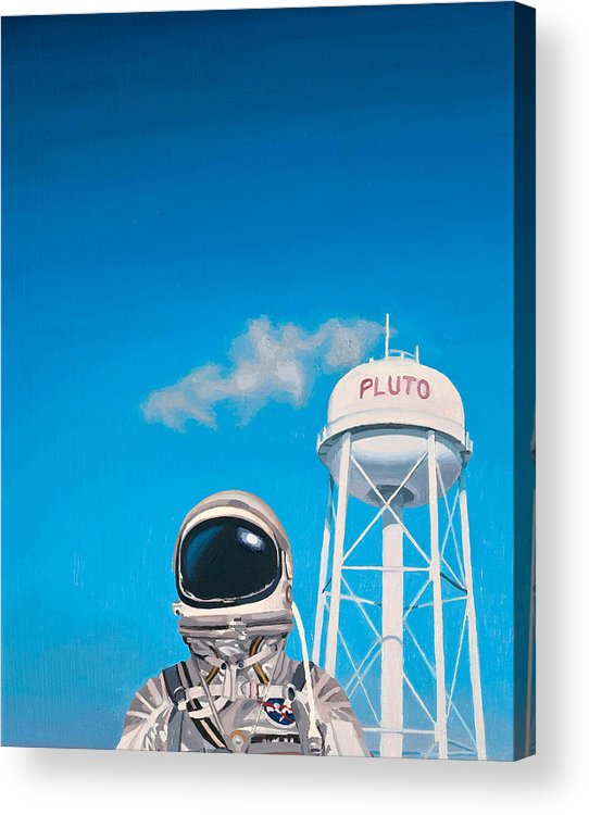 Astronaut Acrylic Print featuring the painting Pluto by Scott Listfield
