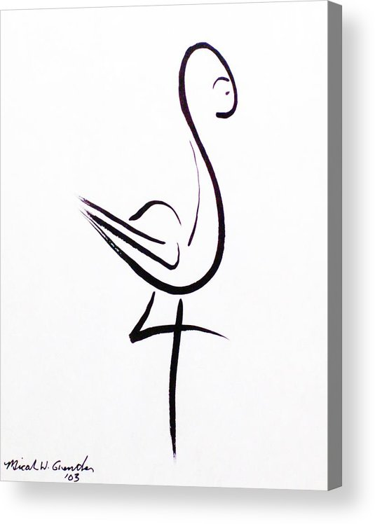 Abstract Acrylic Print featuring the drawing Poise by Micah Guenther