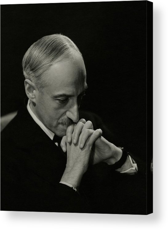 Literary Acrylic Print featuring the photograph Portrait Of Author Andre Maurois by George Hoyningen-Huene