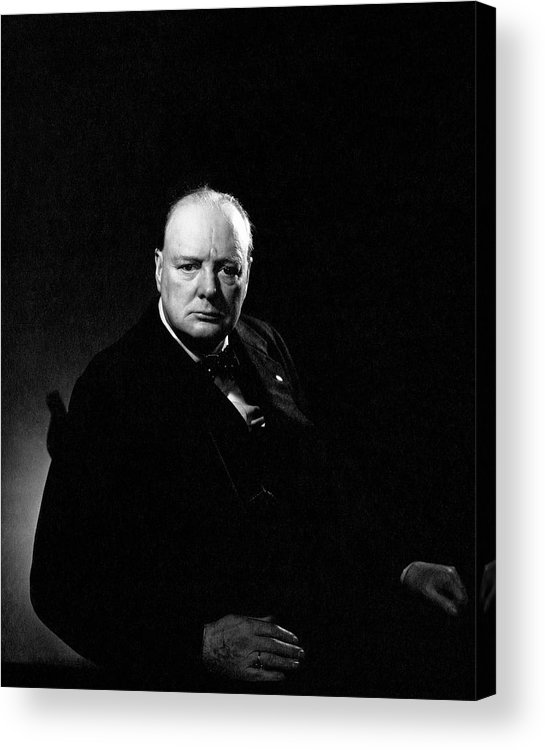 Political Acrylic Print featuring the photograph Portrait Of Winston Churchill by Edward Steichen