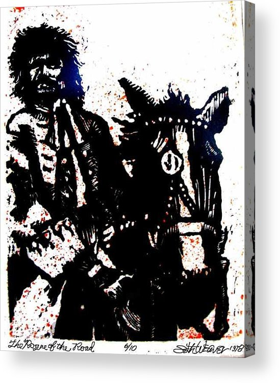 English Highwayman Acrylic Print featuring the mixed media Rogue of the Road by Seth Weaver