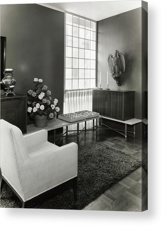 Interior Design Acrylic Print featuring the photograph Room Designed By John And Earline Brice by Tom Leonard