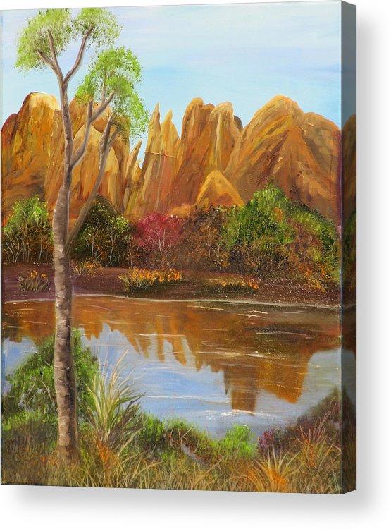 Sedona Acrylic Print featuring the painting Sedona Summer by Mikki Alhart