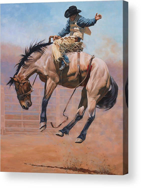 Michelle Grant Acrylic Print featuring the painting Sky High by JQ Licensing