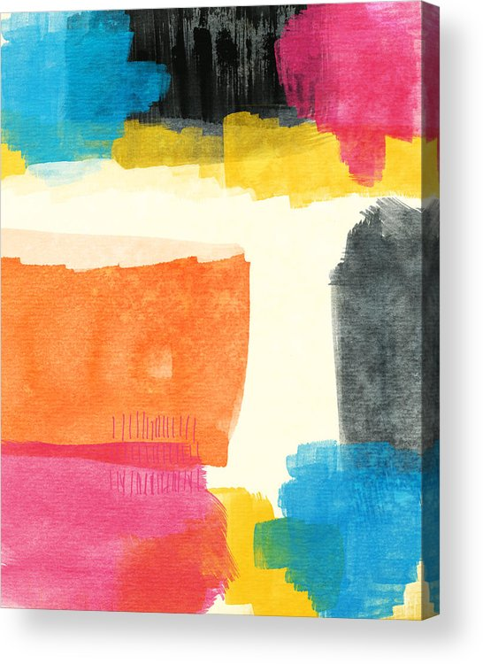 Spring Acrylic Print featuring the painting Spring Forward- Colorful Abstract Painting by Linda Woods
