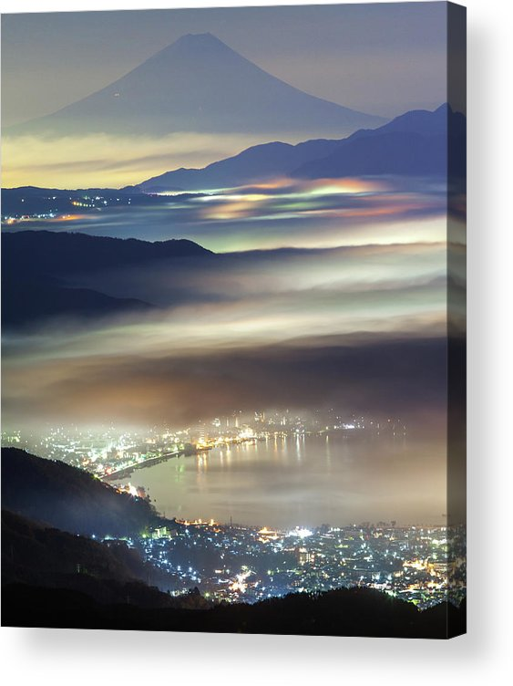 Japan Acrylic Print featuring the photograph Staining Sea Of Clouds by Hisashi Kitahara