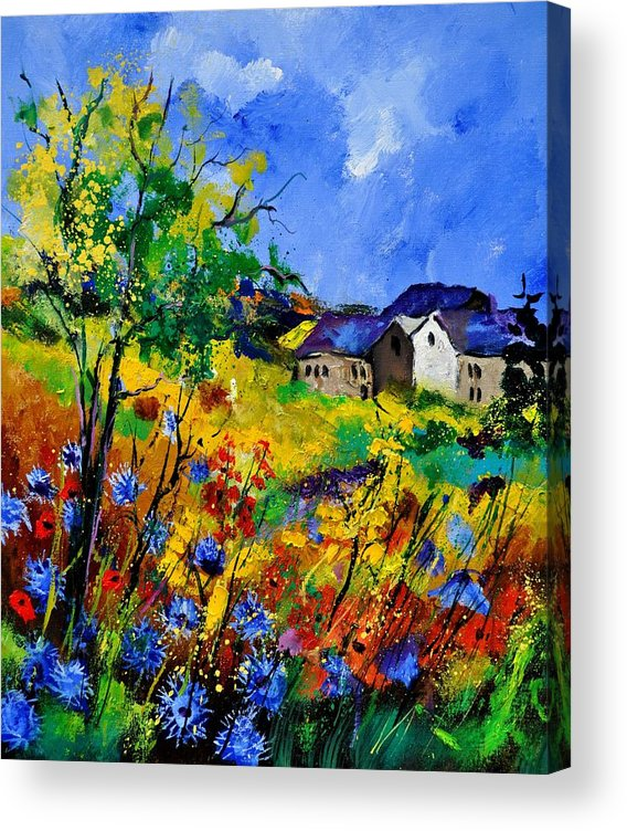 Landscape Acrylic Print featuring the painting Summer 673180 by Pol Ledent