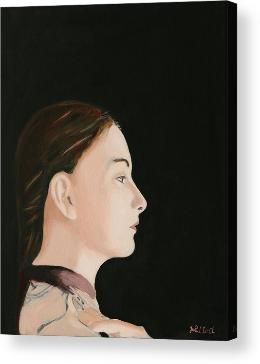 Portrait Acrylic Print featuring the painting The Real One - Depth of Self by Jean-Paul Setlak