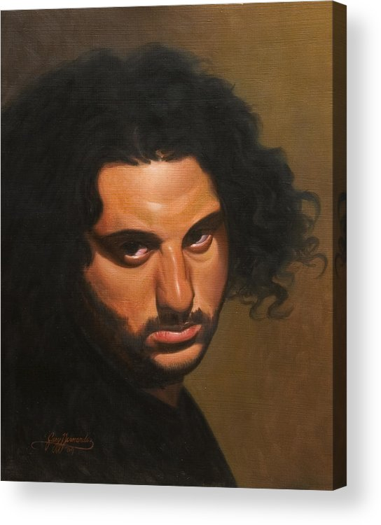 Portrait Acrylic Print featuring the painting The Young Italian by Gary Hernandez