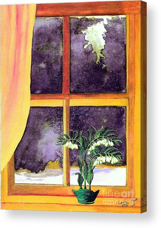 Fine Art Acrylic Print featuring the painting Through the Window by Patricia Griffin Brett