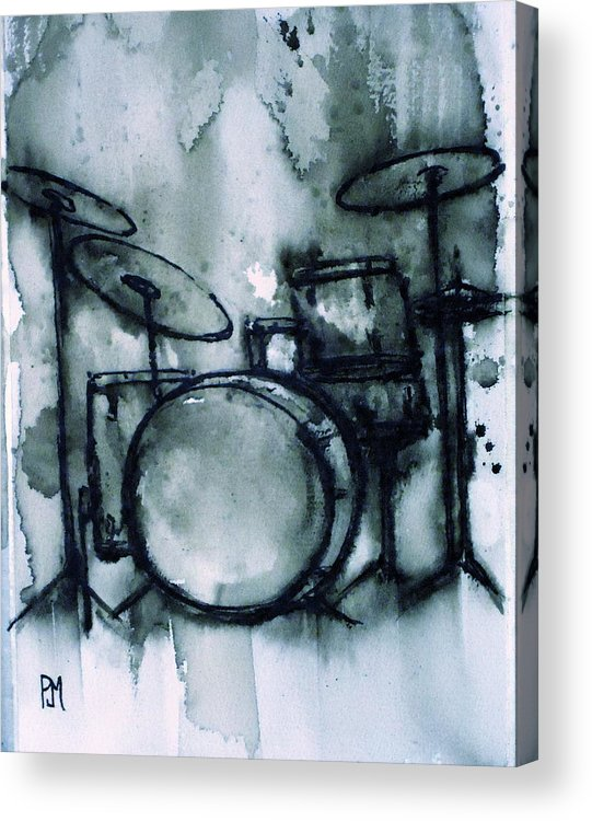 Drums Acrylic Print featuring the painting Vintage Drums II by Pete Maier