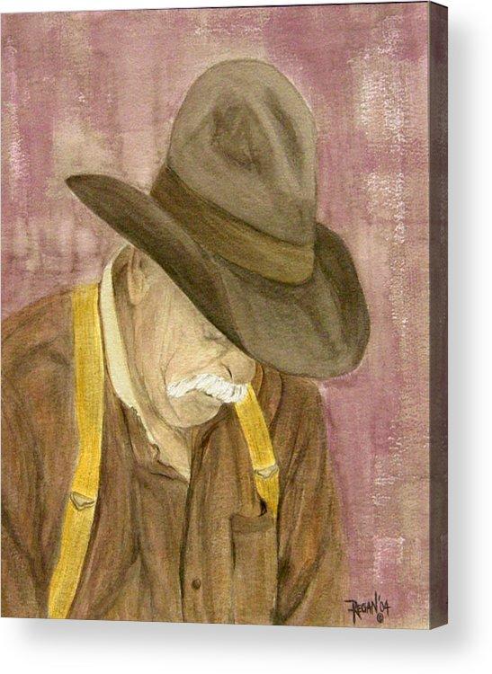 Western Acrylic Print featuring the painting Walter by Regan J Smith