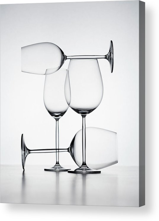 Empty Acrylic Print featuring the photograph Wine Glasses by Jorg Greuel