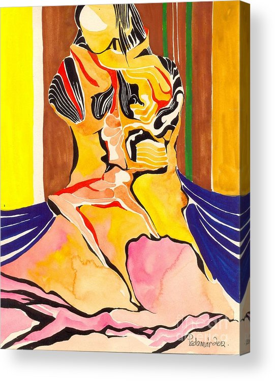 Abstract Acrylic Print featuring the painting Creation by Padamvir Singh