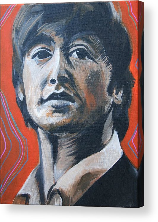 Beatles Acrylic Print featuring the painting John Lennon by Kate Fortin