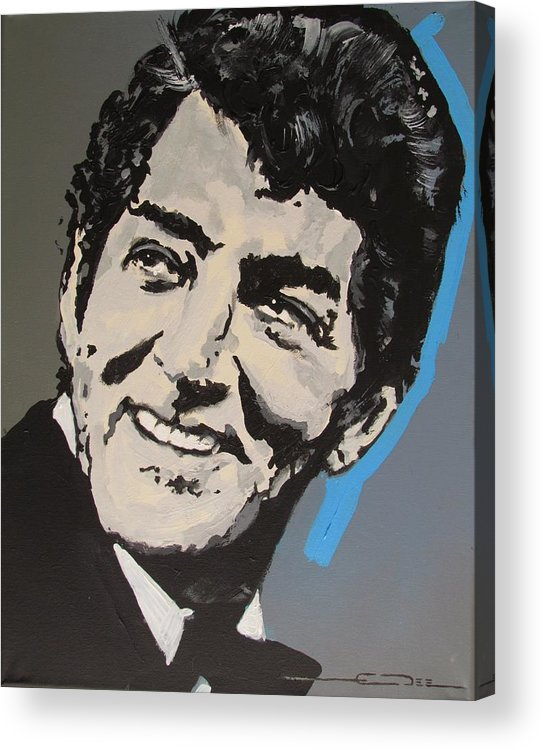 Dean Martin Acrylic Print featuring the drawing King of Cool by Eric Dee