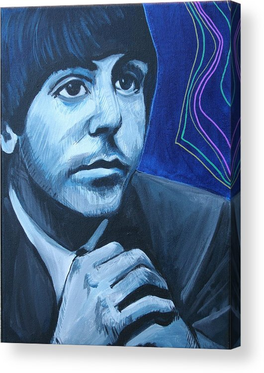 Beatles Acrylic Print featuring the painting Paul Mccartney by Kate Fortin