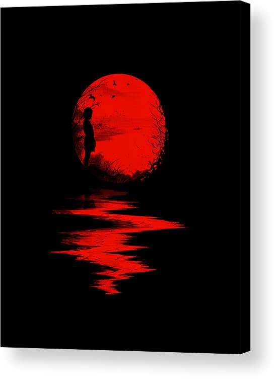 Art Acrylic Print featuring the digital art The Land of the Rising Sun by Nicebleed