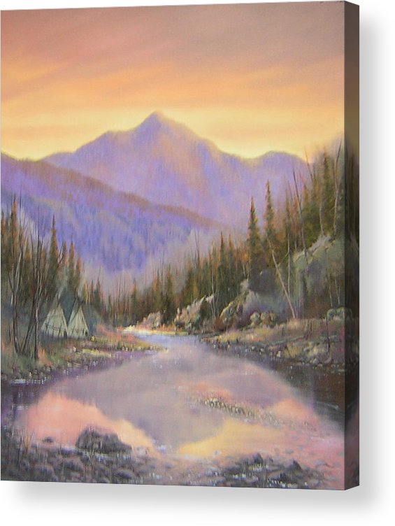 Landscape Acrylic Print featuring the painting 060526-2024 Times Past  by Kenneth Shanika