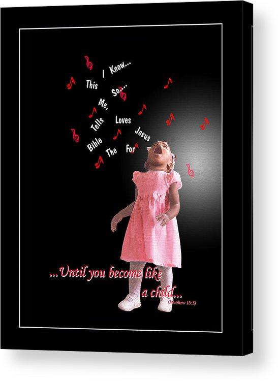 Child Acrylic Print featuring the photograph Childlike by Richard Gordon