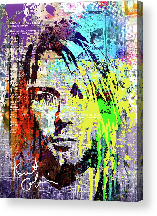 Nirvana Acrylic Print featuring the painting Nirvana Art by Art Popop