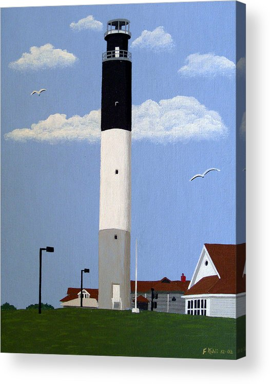 Lighthouse Paintings Acrylic Print featuring the painting Oak Island Lighthouse by Frederic Kohli