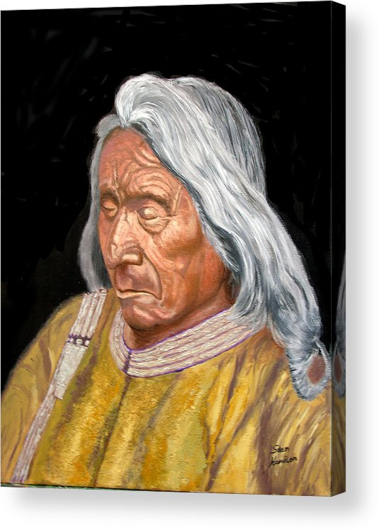 Indian Acrylic Print featuring the painting Red Cloud by Stan Hamilton