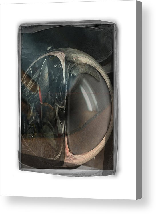 Abstract Acrylic Print featuring the digital art Too Old To Serve by Nuff