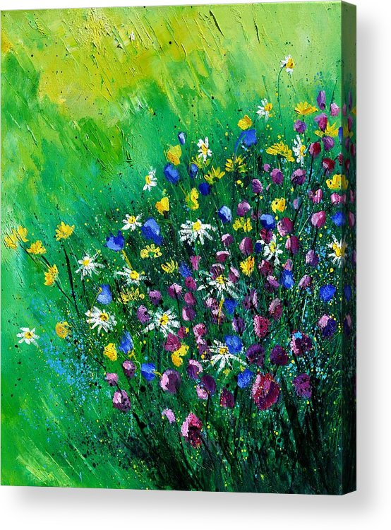 Flowers Acrylic Print featuring the painting Wild Flowers by Pol Ledent