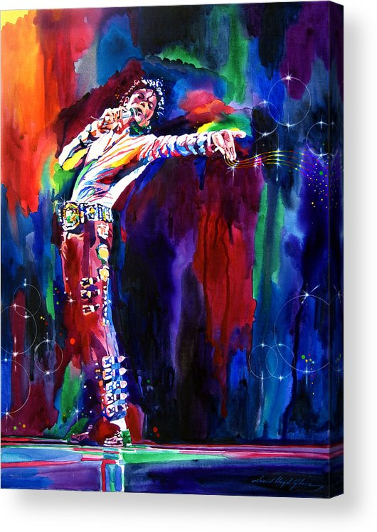 Michael Jackson Acrylic Print featuring the painting Jackson Magic by David Lloyd Glover