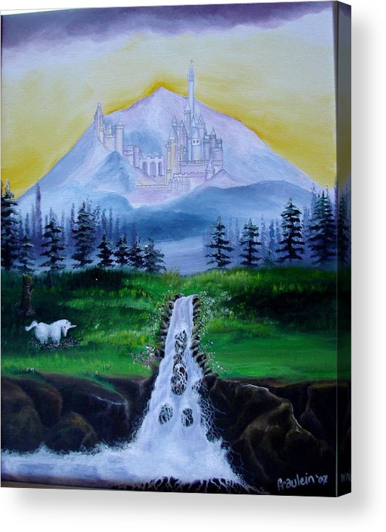 Landscape Acrylic Print featuring the painting A Fairytale by Glory Fraulein Wolfe