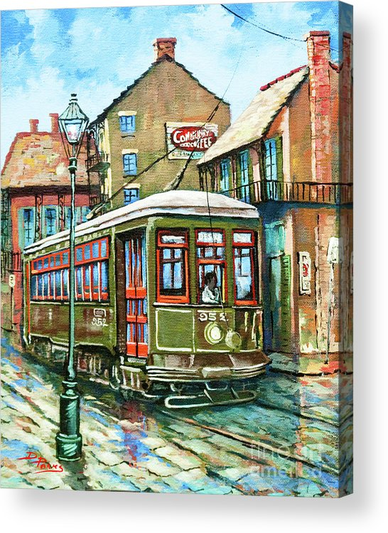 New Orleans Street Car Acrylic Print featuring the painting A Streetcar Named Desire by Dianne Parks