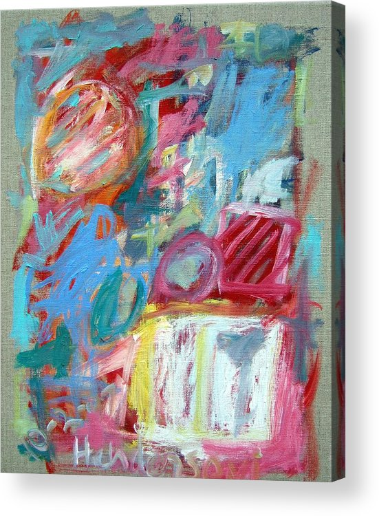 Abstract Acrylic Print featuring the painting Abstract Composition 2 by Michael Henderson