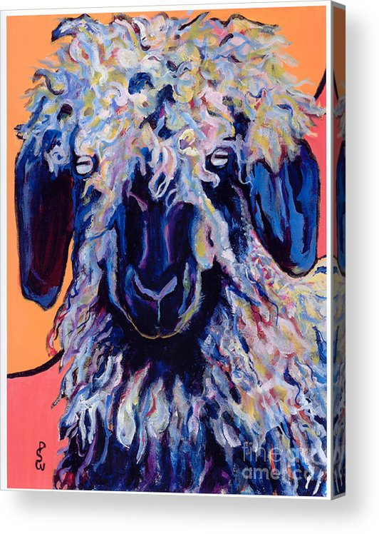Goat Print Acrylic Print featuring the painting Adelita  by Pat Saunders-White