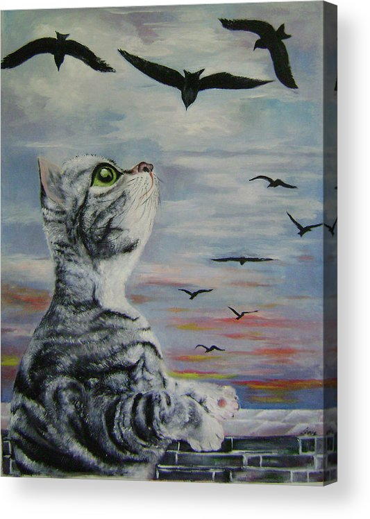 Imaginative Acrylic Print featuring the painting Admiration by Lian Zhen