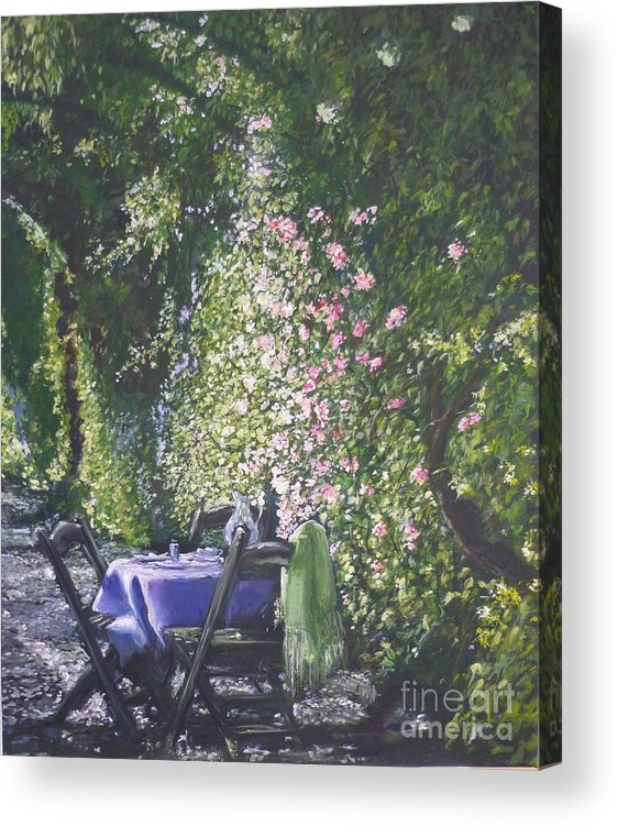 Flowers Acrylic Print featuring the painting Afternoon Tea by Lizzy Forrester