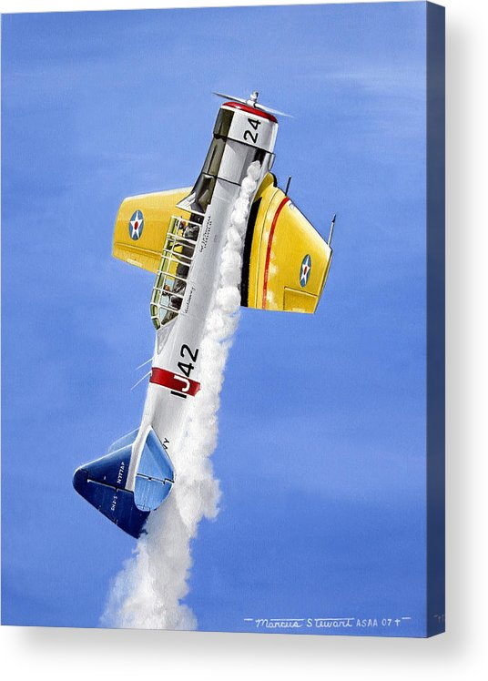 Military Acrylic Print featuring the painting Air Show by Marc Stewart