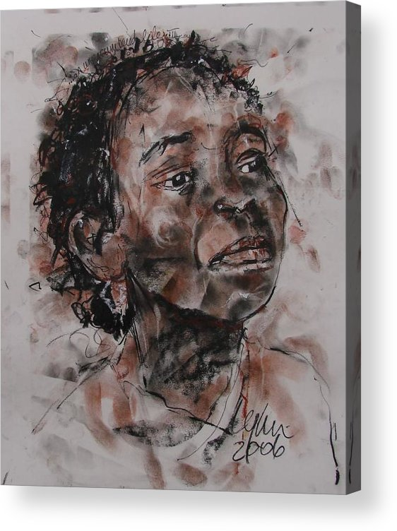 Acrylic Print featuring the drawing An Unencumbered Life 2 by Lynn Gray
