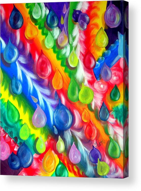 Abstract Acrylic Print featuring the painting Basic Abstraction by Kathern Welsh