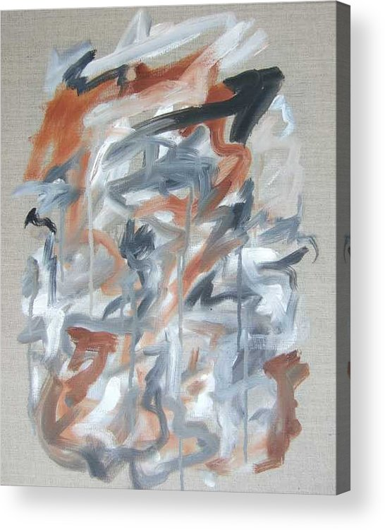 Abstract Acrylic Print featuring the painting Black and Tan No 2 by Michael Henderson