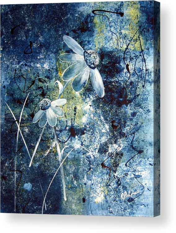Abstract Acrylic Print featuring the painting Blue Beauties by Ruth Palmer