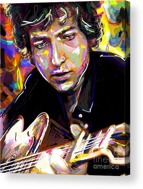 Bob Dylan Acrylic Print featuring the mixed media Bob Dylan Art by Ryan Rock Artist