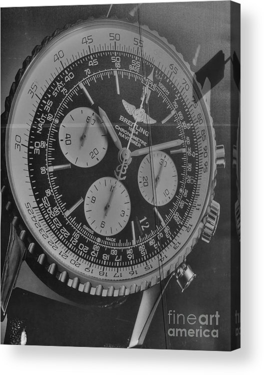 Billboard Acrylic Print featuring the photograph Breitling Chronometer by David Bearden