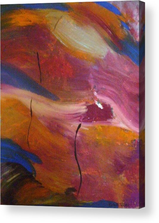 Abstract Art Acrylic Print featuring the painting Broken Heart by Kelly Turner