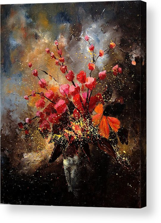 Poppies Acrylic Print featuring the painting Bunch 1207 by Pol Ledent