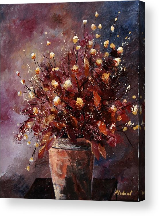 Poppies Acrylic Print featuring the painting Bunch 56 by Pol Ledent