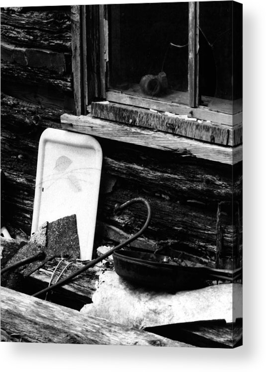 Acrylic Print featuring the photograph Cabin-window by Curtis J Neeley Jr